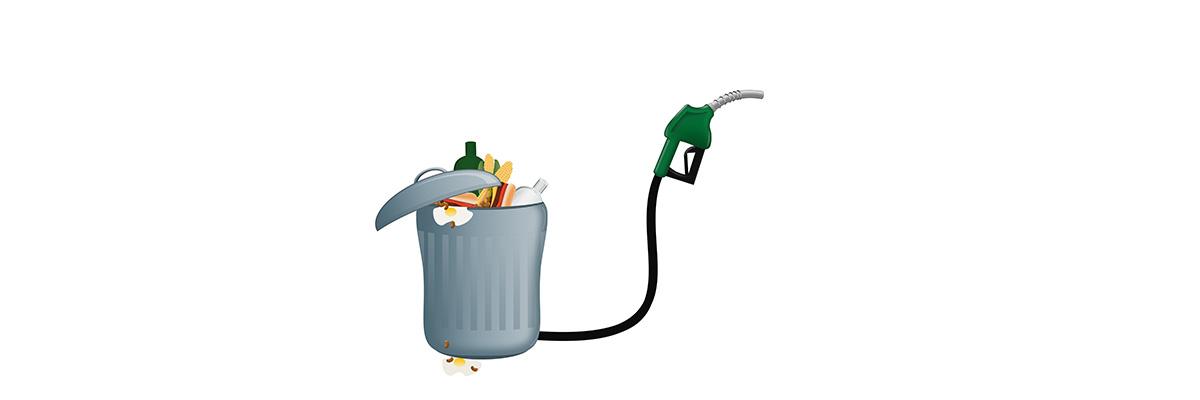 Etanol är ett vanligt biobränsle.